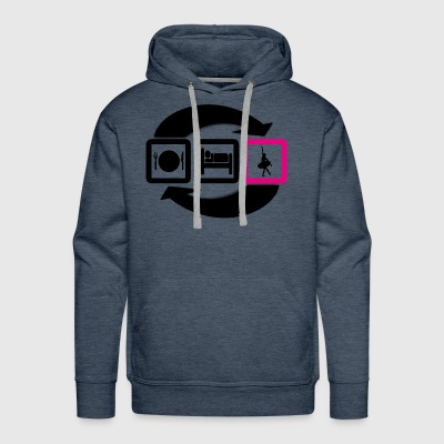 Eat sleep ballet repeat gift - Men's Premium Hoodie