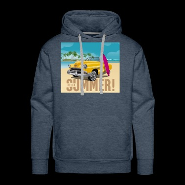 Surfing Tee Shirt Gift for men and women - Men's Premium Hoodie