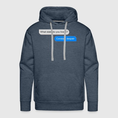 Official What state do you live in - Men's Premium Hoodie