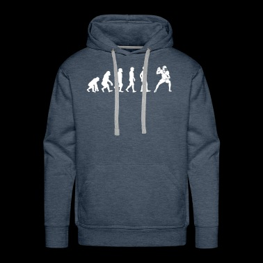 The Evolution Of American Football Player - Men's Premium Hoodie