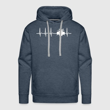 Heartbeat Drums Drummer Sticks Cool Funny Gift - Men's Premium Hoodie