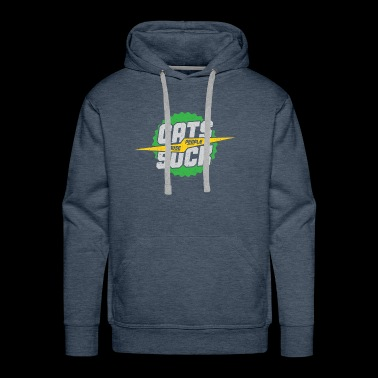 Cat cause people suck gift idea green - Men's Premium Hoodie