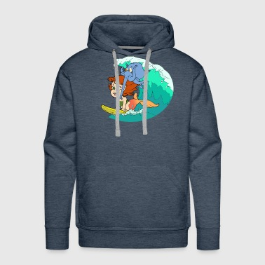 Surfs Up - Men's Premium Hoodie