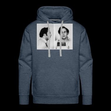 Son of Sam David Berkowitz Mug Shot 1977Horizontal - Men's Premium Hoodie