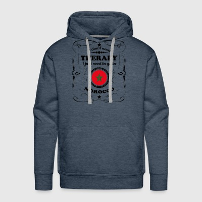 DON T NEED THERAPIE GO MOROCCO - Men's Premium Hoodie