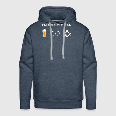 simple man like boobs bier beer titten architekt z - Men's Premium Hoodie
