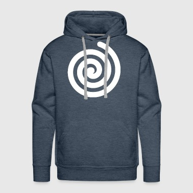 Spiral Geometry Present Art Design White - Men's Premium Hoodie