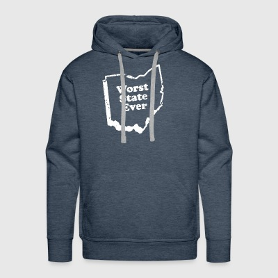 ohio worst state ever - Men's Premium Hoodie