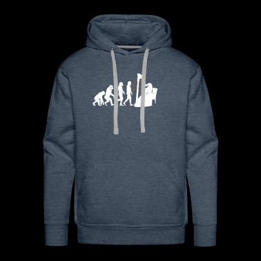 Harp Musician Instruments Evolution - Men's Premium Hoodie