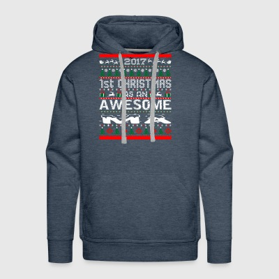 2017 First Christmas Awesome Ma Ugly Sweater - Men's Premium Hoodie