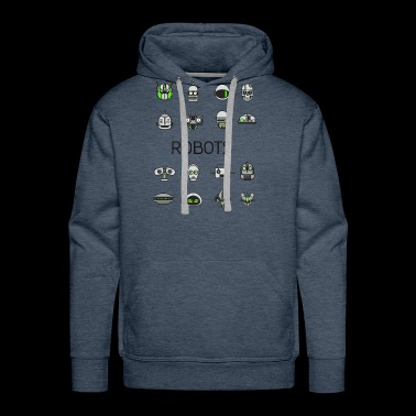 robots space man android nerd game comic men scifi - Men's Premium Hoodie