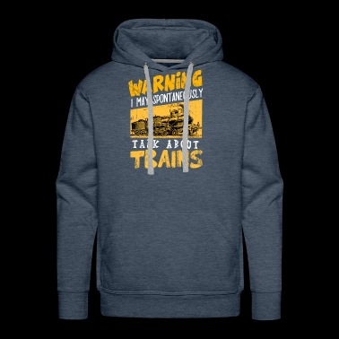 Trains Locomotive Steam Locomotive Railroad track - Men's Premium Hoodie