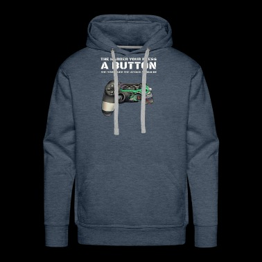 The Harder your press a button Gamer Myth. - Men's Premium Hoodie