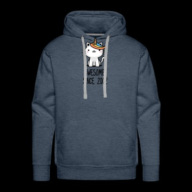 Caticorn Awesome Since 2002 16th birthday gift - Men's Premium Hoodie