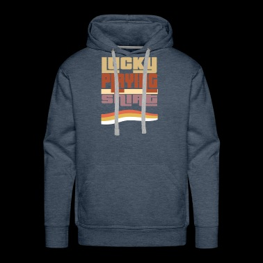 Lucky Playing shirt, retro, vintage, 80s, #Playing - Men's Premium Hoodie