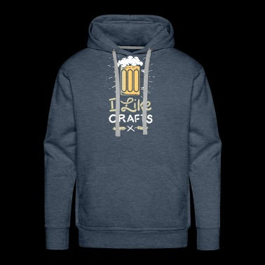 I like Beer Craft and Beer Love Gift - Men's Premium Hoodie