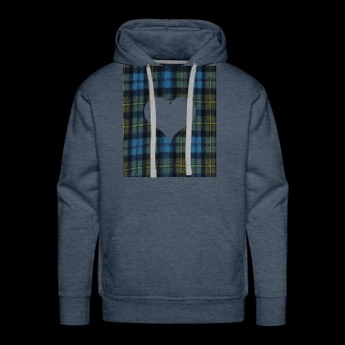 Heart for Tatar Day am and proud scots - Men's Premium Hoodie