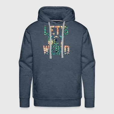 LETS GET WEIRD - Psychedelic Pattern Party Gift - Men's Premium Hoodie