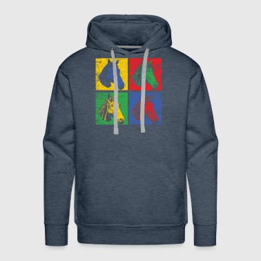 Horse pop art - Men's Premium Hoodie
