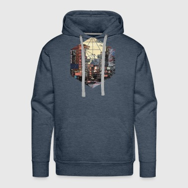 Retro Vintage Geometric - Streets of Chinatown Asi - Men's Premium Hoodie