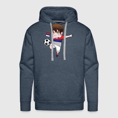 Dab Dabbing Soccer Boy World Cup Russia Gift - Men's Premium Hoodie