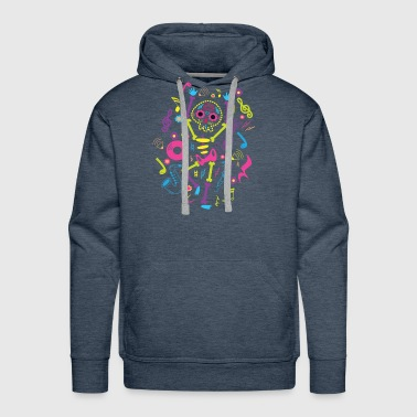 Candy Skull Skeleton Consumed Sugar Now Dancing - Men's Premium Hoodie