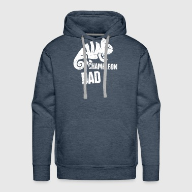 Funny Chameleon Dad Graphic - Men's Premium Hoodie
