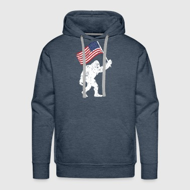 Bigfoot 4th Of July Shirts Flag Patriotic USA - Men's Premium Hoodie