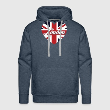 London British Flag Heart United Kingdom Cute - Men's Premium Hoodie