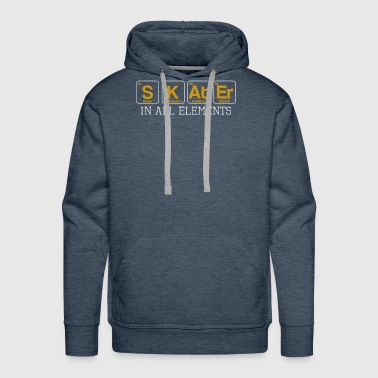 Skater In All Elements Periodic Table Science - Men's Premium Hoodie