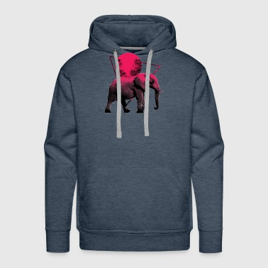 Elephant Moon Walk Shirts & Gifts - Men's Premium Hoodie
