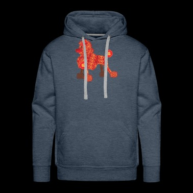 Poodle Firecracker for Lunar Chinese New Year - Men's Premium Hoodie