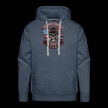 sweat gears Motorcycle Skull Mechanics Bones Gift - Men's Premium Hoodie