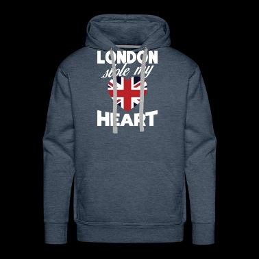London Stole My Heart United Kingdom National Flag - Men's Premium Hoodie