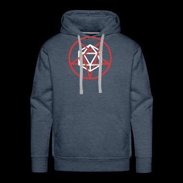 Satanic d20 Pentagram | Roleplaying Game - Men's Premium Hoodie