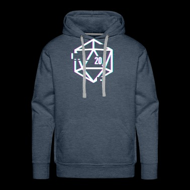 Glitched d20 | Roleplaying Board Game - Men's Premium Hoodie