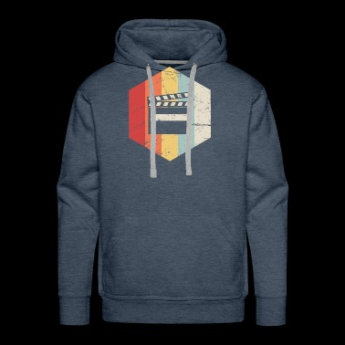 Retro Director Filmmaker Graphic - Men's Premium Hoodie
