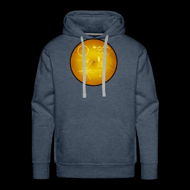golden record official NASA space images voyager - Men's Premium Hoodie