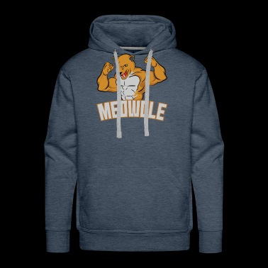 Meowcle Gym Gift for Cat Loving Meatheads - Men's Premium Hoodie
