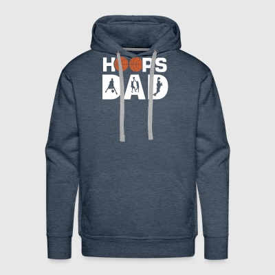 Basketball dad coach gift for the best ever hoo - Men's Premium Hoodie