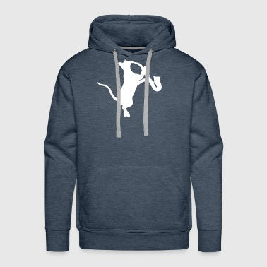 saxophone - cat playing saxophone - Men's Premium Hoodie