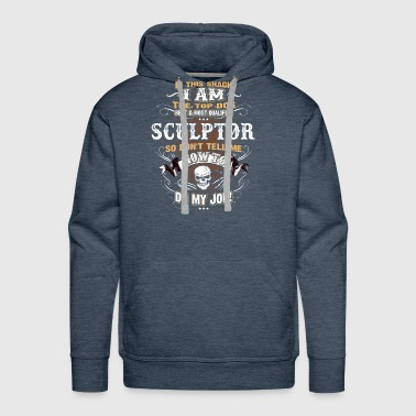 Sculptor Shirts for Men, Job Shirt with Skull - Men's Premium Hoodie