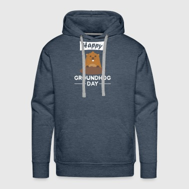 Happy groundhog day shirt - Men's Premium Hoodie
