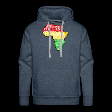 Melanin Africa Outline Black - Men's Premium Hoodie