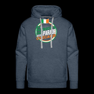 St. Patrick's Day Parade Chicago 2018 Ireland Flag - Men's Premium Hoodie