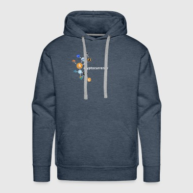 Cryptocurrency t-shirt. Blockchain. Crypto logo - Men's Premium Hoodie