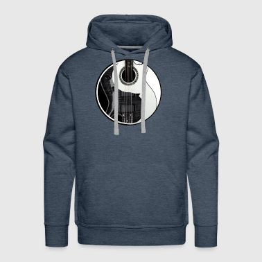 Yin Yang Guitars Light & Dark Chinese Tai Chi - Men's Premium Hoodie