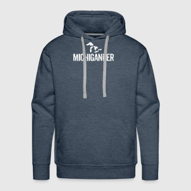 Michigander Great Lakes Upper Peninsula Michigan - Men's Premium Hoodie