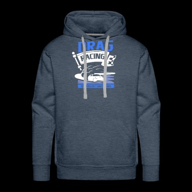 Cars with speed - Drag Racing - Men's Premium Hoodie