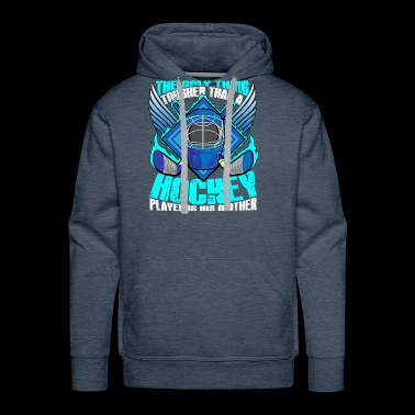 A Hockey Player Is His Mom T Shirt - Men's Premium Hoodie
